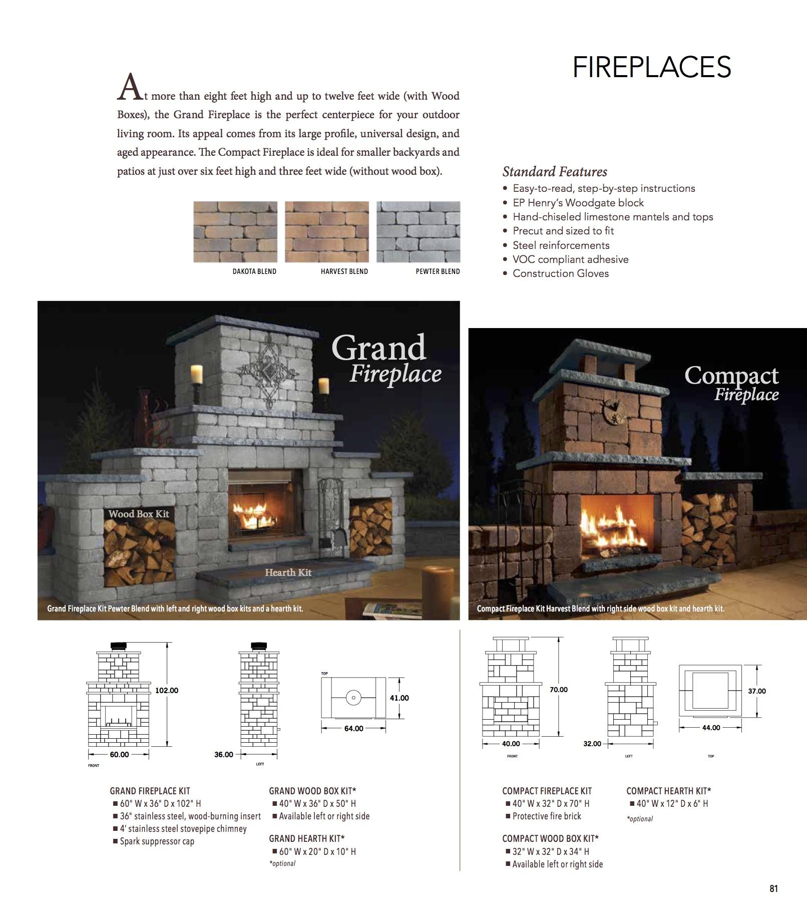 Ep Henry Fire Pits Fireplaces Harmony Hardscape Supply