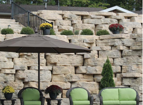 Oberfield S Rosetta Outcropping Retaining Wall Harmony